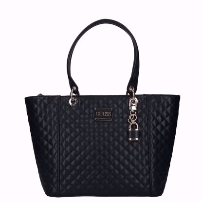 0	Guess borsa shopping Kamryn trapuntata nero , Guess shopping bag Kamryn quilted black