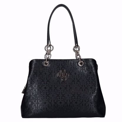 Guess borsa shopping Chic Shine black , Guess shopping bag Chic Shine black