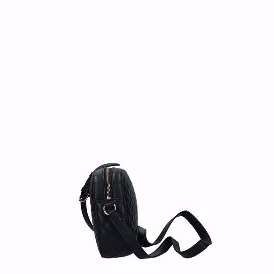 Guess borsa a tracolla Kamryn trapuntata nero, Guess crossbody bag Kamryn quilted black