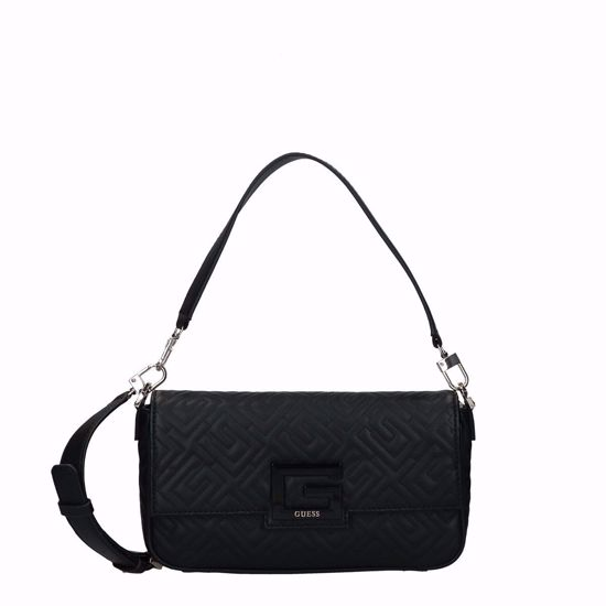 Guess borsa a tracolla Brightside nero, Guess crossbody bag Brightside black