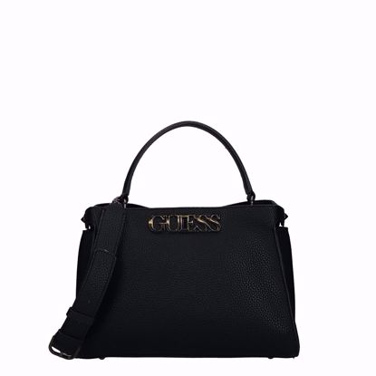 Guess borsa a mano Uptown Chic black, Guess bag Uptown Chic black