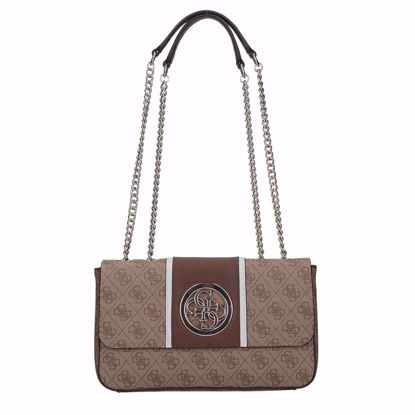 Guess borsa a spalla Open Road brown, Guess bag Open road brown