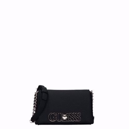 Guess borsa a tracolla Uptown Chic Mini black, Guess crossbody bag Uptown Chic Mini black