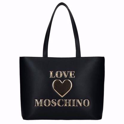Love Moschino borsa shopping Papped Heart nero, Love Moschino shopping bag Papped Heart black