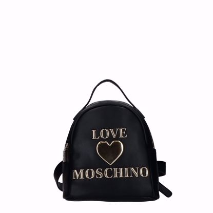Love Moschino zaino Papped Heart nero, Love Moschino backpack Papped Heart black