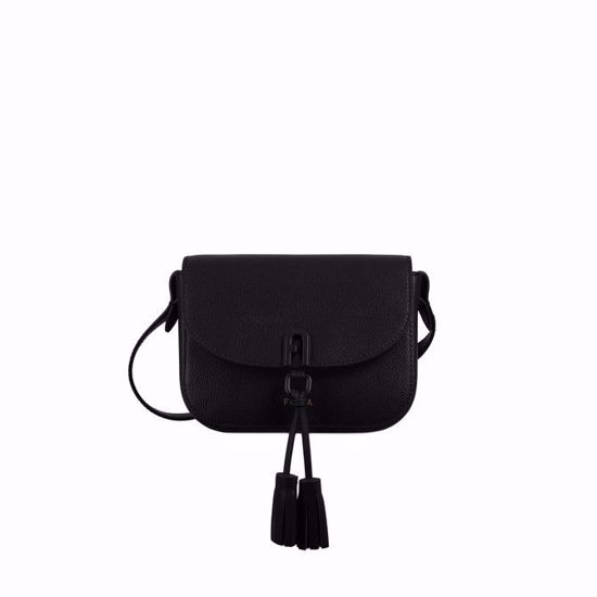 Furla 1927 mini crossbody bag con patta - Nero