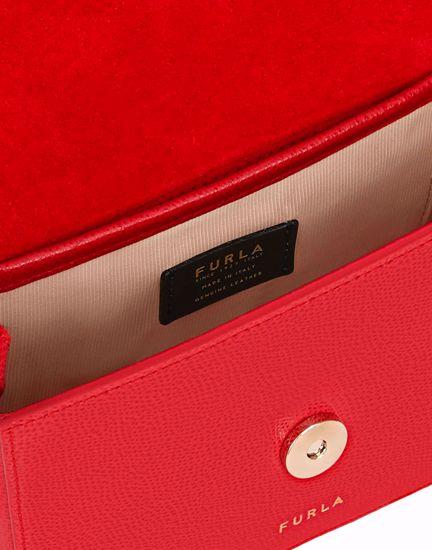 Furla 1927 mini crossbody bag con patta - Ruby