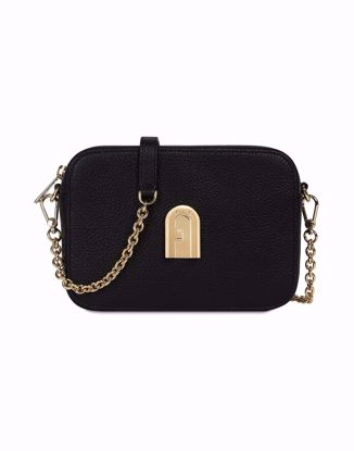 Furla Sleek mini borsa a bandoliera - Nero, Furla Sleek mini crossbody bag - Black