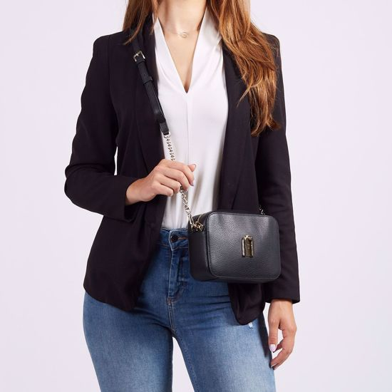 Furla Sleek mini borsa a bandoliera - Nero, Furla Sleek mini crossbody bag - Black