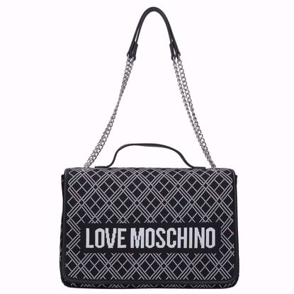 Love Moschino borsa doppia portabilità Fabric nero, Love Moschino bag double portability Fabric black