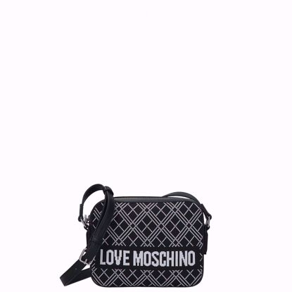 Love Moschino borsa a tracolla camera case Fabric nero, Love Moschino crossbody bag camera case Fabric black