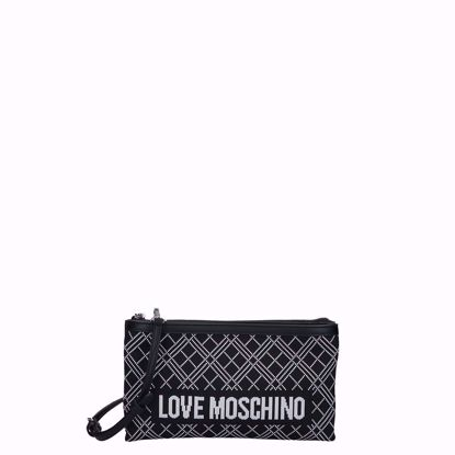 Love Moschino borsa a tracolla fabric nero, Love Moschino crossbody bag Fabric black