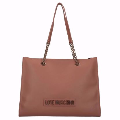 Love Moschino borsa shopping Smooth cuoio, Love Moschino shopping bag Smooth brown