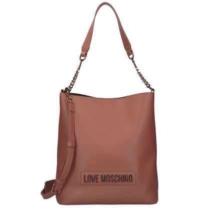 Love Moschino borsa a secchiello Smooth cuoio, Love Moschino bucket bag Smooth brown