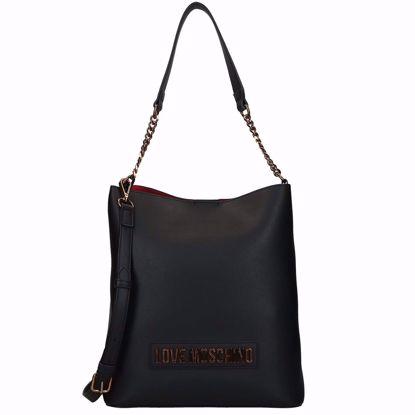 Love Moschino borsa a secchiello Smooth nero, Love Moschino bucket bag Smooth black