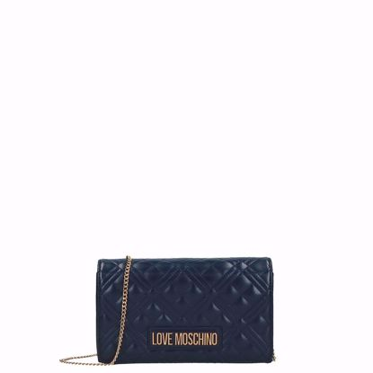 Love Moschino borsa a tracolla Quilted navy, Love Moschino crossbody bag Quilted navy