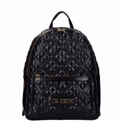 Love Moschino zaino Quilted lucido nero, Love Moschino backpack Quilted shiny black