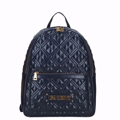 Love Moschino zaino Quilted navy, Love Moschino backpack Quilted navy