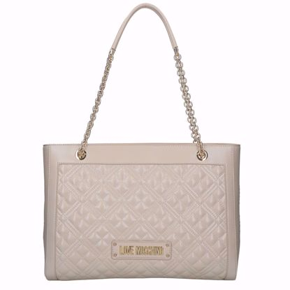 Love Moschino borsa shopping Quilted avorio, Love Moschino shopping bag Quilted ivory