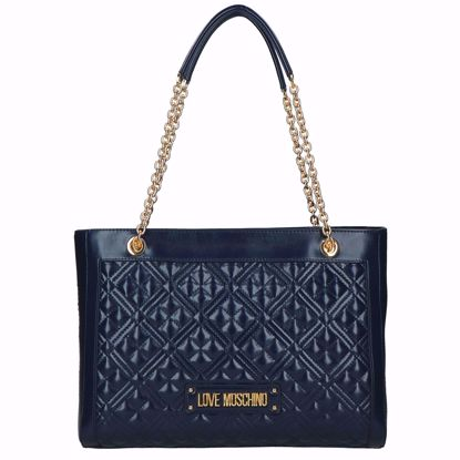 Love Moschino borsa shopping Quilted navy, Love Moschino shopping bag Quilted navy