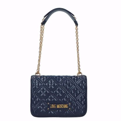 Love Moschino borsa a spalla Quilted navy, Love Moschino bag Quilted navy