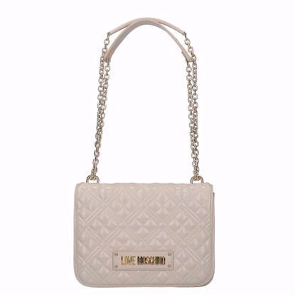 Love Moschino borsa a spalla Quilted avorio, Love Moschino bag Quilted ivory
