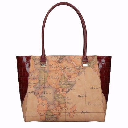Alviero Martini borsa shopping Geo Chic cognac, Alviero Martini shopping bag Geo Chic cognac