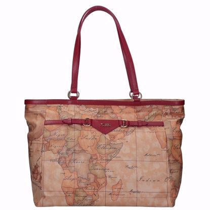 Alviero Martini borsa shopping Geo Soft Liberty burgundy, Alviero Martini shopping bag Geo Soft Liberty burgundy