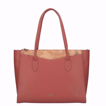Alviero Martini borsa shopping Art City burnt orange, Alviero Martini shopping bag Art City burnt orange