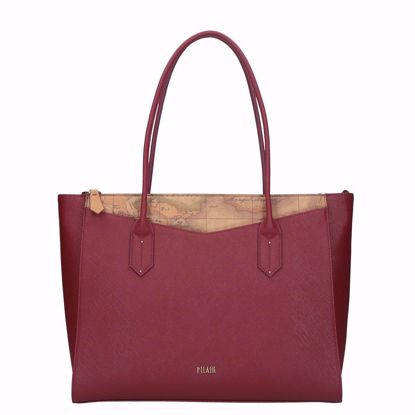 Picture of shopping bag Art City large burgundy