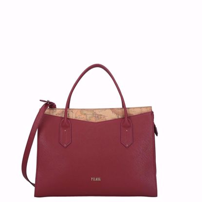Alviero Martini borsa a mano Art City burgundy, Alviero Martini bag Art City burgundy