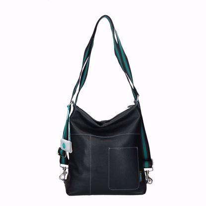 Gabs borsa a sacca Clarissa M ruga nero, Gabs bag Clarissa M ruga black