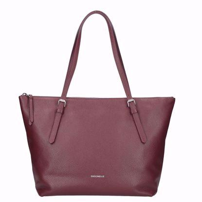 Coccinelle borsa shopping Alix marsala, Coccinelle shopping bag Alix marsala