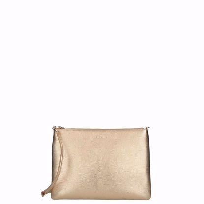 Coccinelle borsa pochette oro, pochette bag gold
