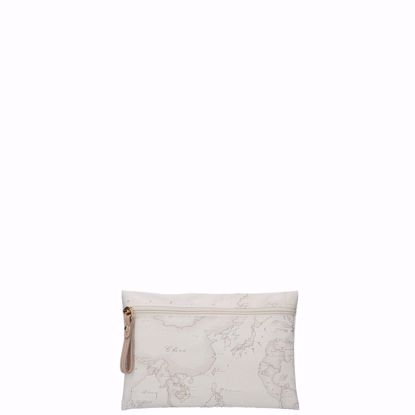 Alviero Martini bustina piatta Geo Soft white, Alviero Martini clutch bag Geo Soft white