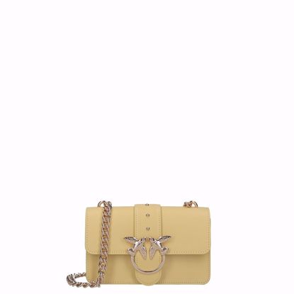 Pinko borsa love bag mini Simply, Pinko love bag mini Simply yellow
