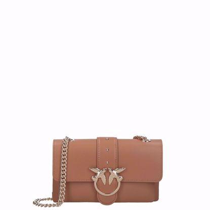 Pinko borsa love bag mini Soft Simply, Pinko love bag mini Soft Simply light brown