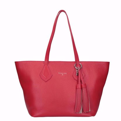 Patrizia Pepe borsa shopping con cerniera mars red, Patrizia Pepe shopping bag with zip mars red