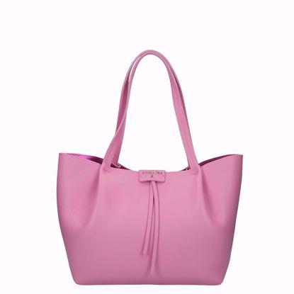 0Patrizia Pepe borsa shopping Pepe City M malibu pink, Patrizia Pepe shopping bag Pepe City M malibu pink