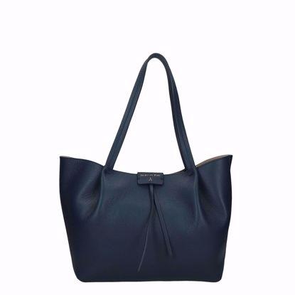 Patrizia Pepe borsa shopping Pepe City M dress blue, Patrizia Pepe shopping bag Pepe City M dress blue