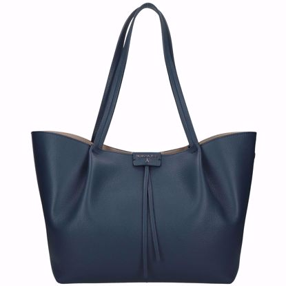 Patrizia Pepe borsa shopping Pepe City L dress blue, Patrizia Pepe shopping bag Pepe City L dress blue