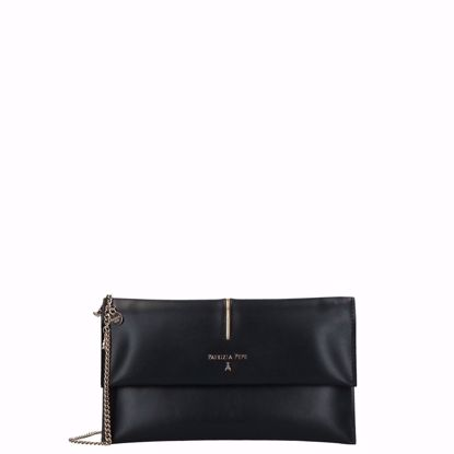 Patrizia Pepe borsa pochette Piping nero, Patrizia Pepe pochette bag Piping black