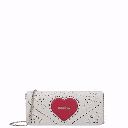 Love Moschino crossbody bag Cuore white, Love Moschino borsa a tracolla Cuore bianco