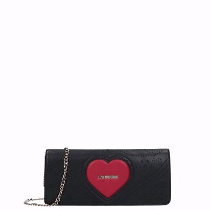 Love Moschino crossbody bag Cuore black, Love Moschino borsa a tracolla Cuore nero