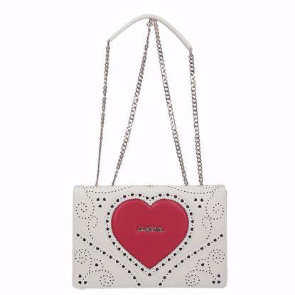Love Moschino borsa a spalla Cuore bianco, Love Moschino bag Cuore white