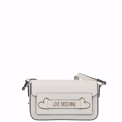 Love Moschino borsa a tracolla Logo bianco, Love Moschino crossbody bag Logo white