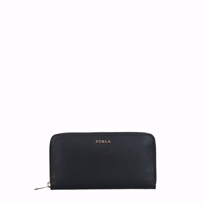Furla portafogli da donna con cerniera Babylon nero, Furla women's wallet with zip Babylon black