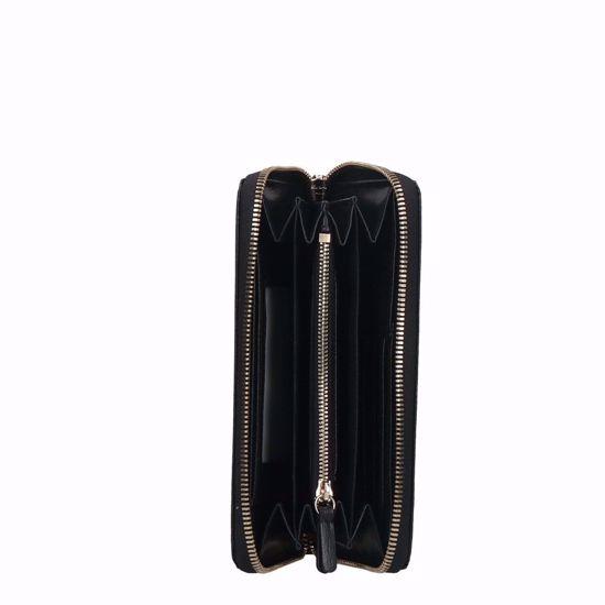 Coccinelle portafogli donna Metallic Soft saffiano nero, Coccinelle woman's wallet Metallic Soft black