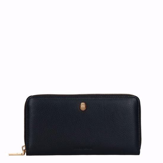 Coccinelle portafogli donna in pelle nero, Coccinelle woman's wallet leather black