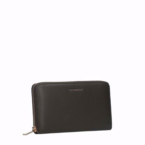 coccinelle portafogli donna con zip Metallic Soft reef, Coccinelle woman's wallet with zip Metallic Soft reef